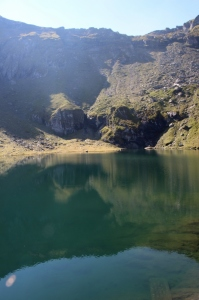 the small lake at the top