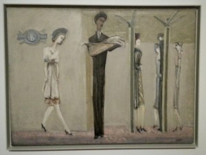 underground phantasy, ca 1940 (one of the early paintings)