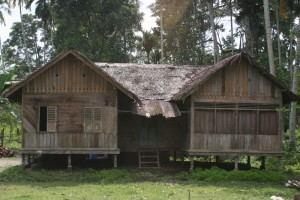 characteristic Acehnese wooden house