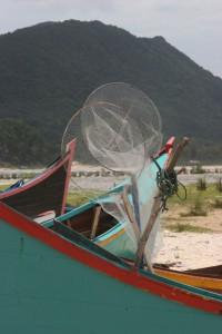fishing equipment on the beach