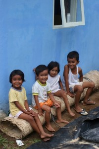 children in an Acehnese village