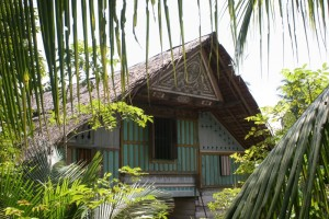 the front of a traditional Acehnese house