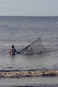 fisherman near Meulaboh