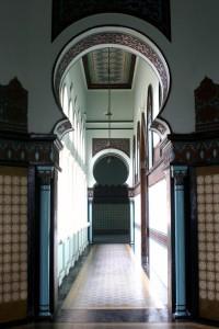 one of the corridors in the Mesjid Raya in Medan