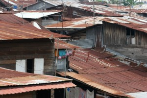 roofs, with TV antennas