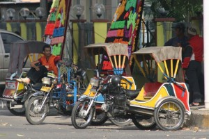 becaks, the taxis of Medan