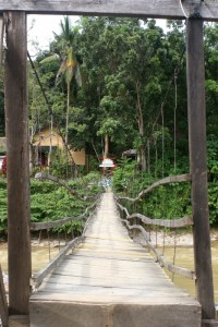 the entrance to the Eco Lodge in Bukit Lawang