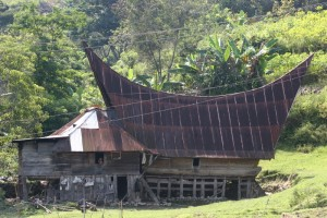 a traditional Toba Batak house on Samosir island