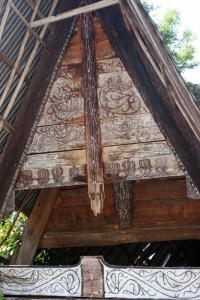 intricately decorated triangle gable