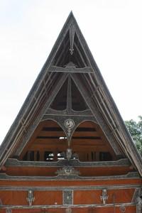 triangle gable of an Ambarita house