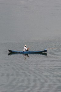 fishing canoe on Lake Toba