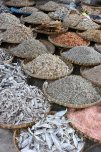 as everywhere in Indonesia, dried fish is an important staple