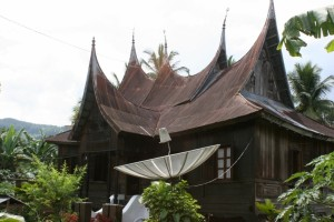elaborate Minangkabau house