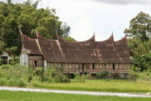 old traditional Minangkabau house