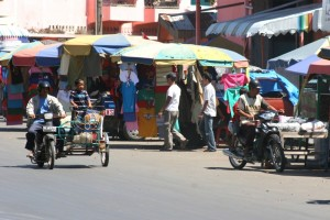 outside the covered bazar
