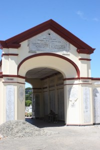 the entrance to the Dutch cemetary in Banda Aceh