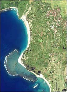 the coast SW of Banda Aceh before the tsunami