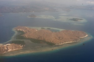 view from the plane, on the way to Flores