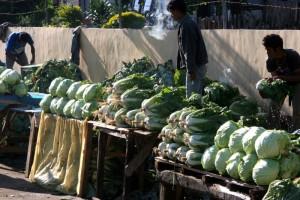 greens in the Ruteng market