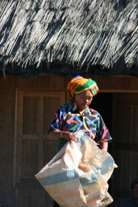 colourful woman in Gampong Ruteng