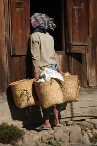 village woman in Gampong Ruteng