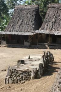 stone altars in the village square