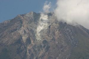 closer view of Gunung Ambulombu