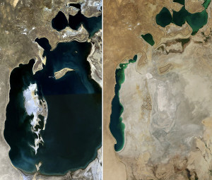 a satelite image then (1989) and now (2014), which I pinched from Wkipedia, nicely illustrates the point
