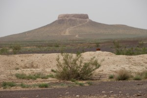Chilpak Kale, along the road, an impressive hill top