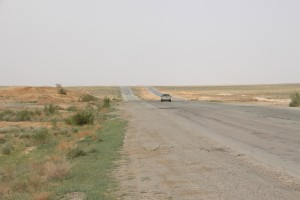 soon, the country outside Nukus becomes rather monotonous