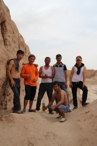 Uzbeks love having their picture taken, even if they are drunk; these were the only other visitors