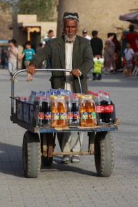 drinks seller in the old town
