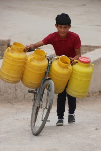 water carrier, although to be fair, these bottles are empty