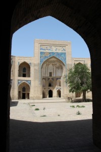 entry to one of the madrasses in Bukhara