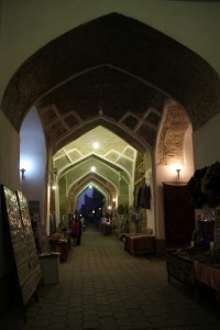 the ancient covered bazaar, turned into souvenir and carpet centre