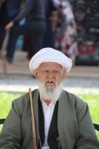 a man in the Bibi Khanum mosque