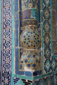 detail of one of the mausoleums in the Shah-i-Zinda cemetery