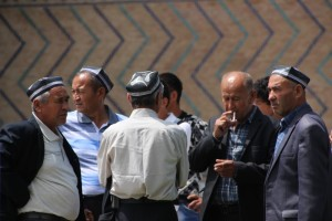men outside the Bibi Khanmum mosque