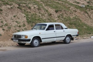 our Lada Volga, 1980's Soviet equivalent of the Mercedes
