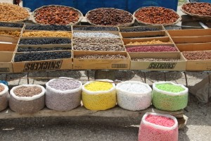 nuts for sale at the Tahktakaracha Pass