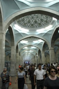 inside one of the metro stations of Tashkent