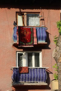 balconies in the centre of Osh