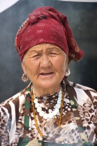 a woman in the Osh bazaar