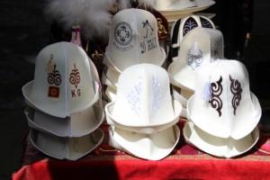 Kyrgyz felt hats in all the available colours