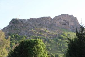 Solomon's Throne, the rock towering over Osh