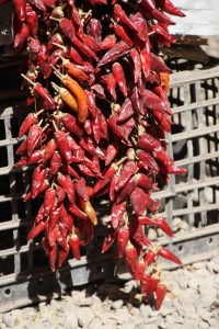 chili peppers for sale in the market