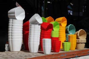 colourful plastics