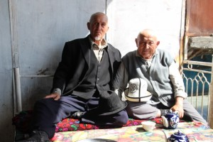 two of the tea drinkers, proudly posing