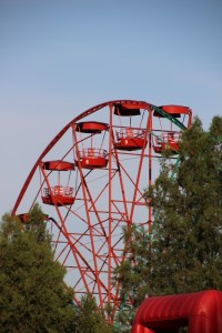 the Osh Ferris wheel, way lower than Solomon's Throne, of course