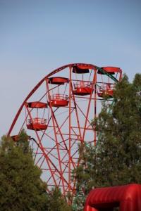 the Osh Ferris wheel, way lower than Solomon's Throne, of course